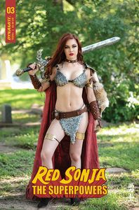 [Red Sonja: The Superpowers #3 (Cover E Polson Cosplay) (Product Image)]