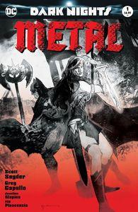 [Dark Nights: Metal #1 (Forbidden Planet/Jetpack Sienkiewicz Blood Red Variant) (Product Image)]