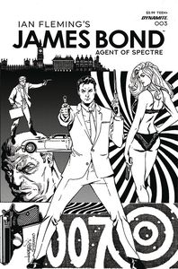 [James Bond Agent Of Spectre #3 (Lopresti Black & White Variant) (Product Image)]