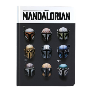 [Star Wars: The Mandalorian: A5 Notebook: Mandalorian Helmets (Product Image)]