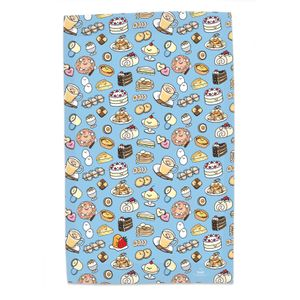 [Gudetama: Where's Gudetama Tea Towel (Product Image)]