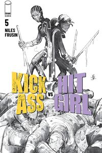 [Kick-Ass Vs Hit-Girl #5 (Cover B Black & White Romita Jr) (Product Image)]