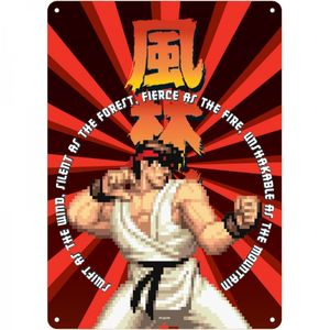 [Street Fighter: A5 Tin Sign: Ryu (Product Image)]
