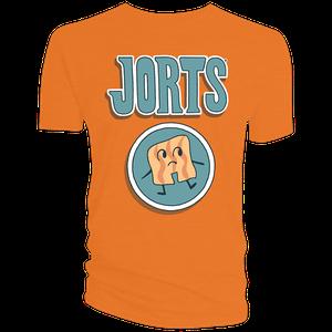 [Hilda: T-Shirt: Jorts Logo (Orange) (Product Image)]