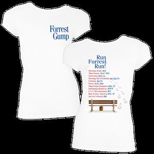 [Forrest Gump: Women's Fit T-Shirt: Events & Dates (Product Image)]