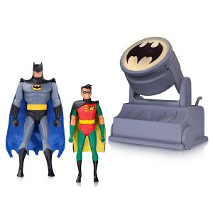 [Batman: The Animated Series: Action Figure 2-Pack: Batman & Robin With Bat-Signal (Product Image)]
