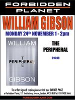 [William Gibson Signing The Peripheral (Product Image)]