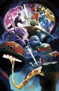 [Power Rangers/Teenage Mutant Ninja Turtles #5 (Del Mundo Virgin Variant) (Product Image)]