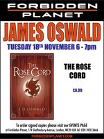 [James Oswald Signing The Rose Cord (Product Image)]