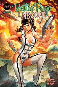 [The cover for Bettie Page: Unbound #8 (Cover A Royle)]