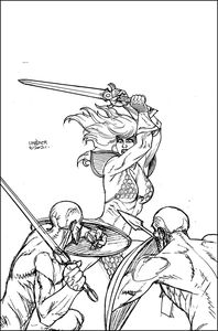 [Invincible Red Sonja #2 (Linsner Line Art Virgin Variant) (Product Image)]