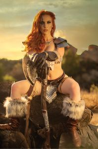 [Red Sonja: Black White Red #1 (Cover I Cosplay Virgin Variant) (Product Image)]