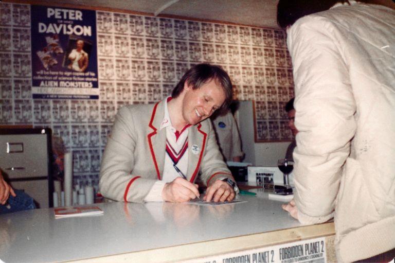 Peter Davison signing