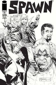 [Spawn #279 (Cover D B&W Walking Dead #115 Tribute Variant) (Product Image)]