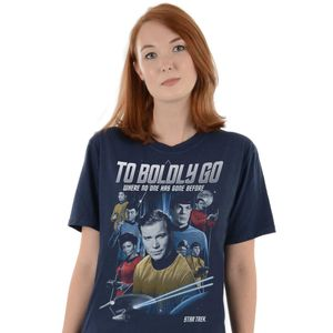 [Star Trek: The Original Series: T-Shirt: Crew & Badge (Destination Star Trek 2019 Exclusive) (Product Image)]