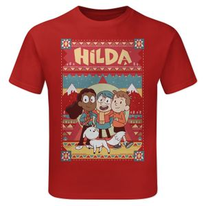 [Hilda: Children's T-Shirt: Hilda & Friends (Red) (Product Image)]