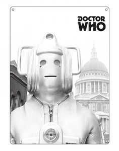 [Doctor Who: Large Sign: Greyscale Cyberman (Product Image)]