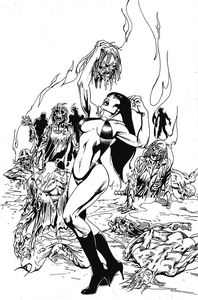 [Vengeance Of Vampirella #14 (Castro Black & White Virgin Variant) (Product Image)]