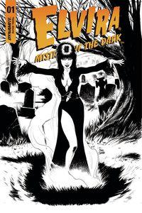 [Elvira Mistress Of Dark #1 (Cermak Black & White Variant) (Product Image)]