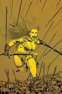 [Red Sonja: Price Of Blood (Golden Gold Tint Virgin Variant) (Product Image)]