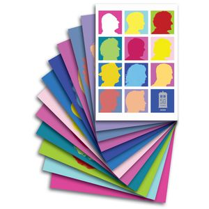 [Doctor Who: Postcards: 12 Pack: Coloured Silhouettes 1 (Product Image)]