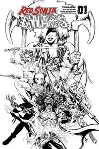 [Red Sonja: Age Of Chaos #1 (Lau Black & White Variant) (Product Image)]