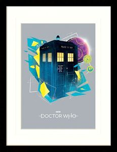 [Doctor Who: Framed Print: Geometric Tardis (Product Image)]
