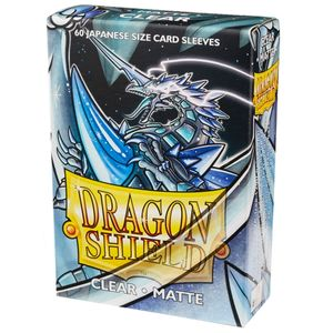 [Dragon Shield: Matte Japanese Size Sleeves 60 Pack: Clear (Product Image)]