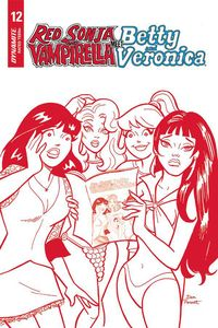 [Red Sonja & Vampirella Meet Betty & Veronica #12 (Parent Red Tint Variant (Product Image)]