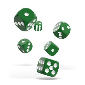 [Oakie Doakie Dice: D6 Dice 12 Set: Solid Green (Product Image)]