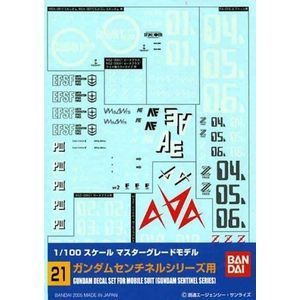 [Gundam: Decal Sheet: 21: MG: Multi Sentinnel (Product Image)]