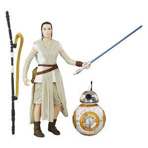 [Star Wars: The Force Awakens: Black Series: Wave 1 Action Figures: Jakku: Rey & BB-8 (6 Inch Version) (Product Image)]