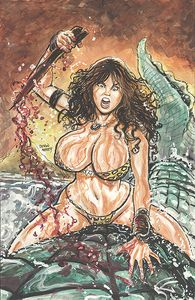 [Cavewoman: Gone Fishing (Cover A Massey) (Product Image)]