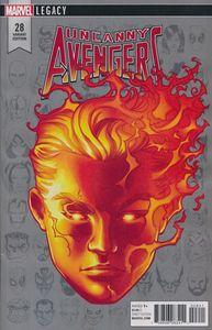 [Uncanny Avengers #28 (Mckone Legacy Headshot Variant) (Product Image)]