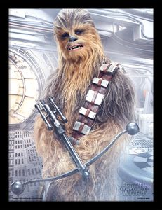 [Star Wars: The Last Jedi: Framed Print: Chewbacca Bowcaster (Product Image)]