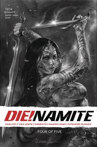 [Die!Namite #4 (Parrillo Living Dead Grayscale Variant) (Product Image)]