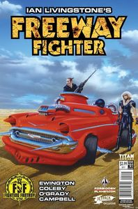 [Freeway Fighter #1 (Forbidden Planet/Jetpack Burns Variant) (Product Image)]