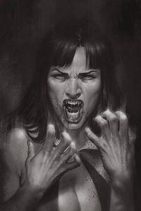 [Vengeance Of Vampirella #10 (Parrillo black & White Virgin Variant) (Product Image)]