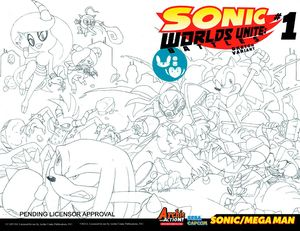 [Sonic Worlds: Unite Battles #1 (Sketch Variant Cover) (Product Image)]