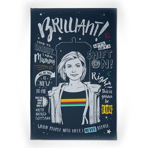 [Doctor Who: Tea Towel: This Is Doctor Thirteen (Product Image)]