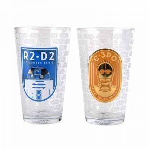 [Star Wars: Glasses: R2-D2 & C-3PO (Set Of 2) (Product Image)]