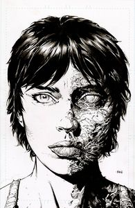 [Walking Dead: Deluxe #11 (2nd Printing Cover B Finch Raw Variant) (Product Image)]