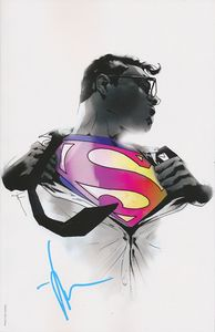 [Action Comics #1000 (Signed Forbidden Planet Exclusive Jock Monochrome Variant) (Product Image)]