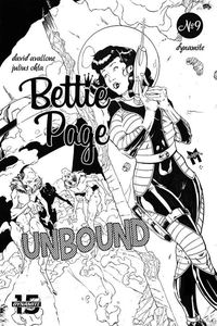 [Bettie Page: Unbound #9 (Gaudio Black & White Variant) (Product Image)]