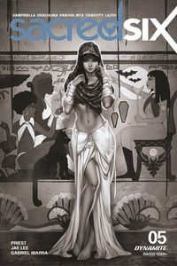 [Sacred Six #5 (Chatzoudis Black & White Variant) (Product Image)]