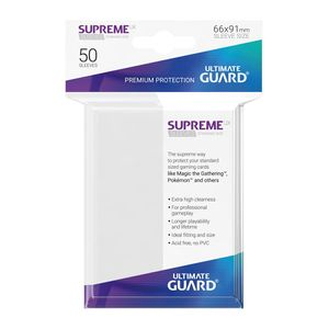 [Supreme UX Sleeves: Standard Size 50 Pack: White (Product Image)]
