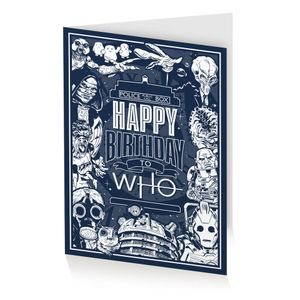 [Doctor Who: Greeting Card: Happy Birthday To Who (Product Image)]