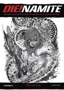 [Die!Namite #1 ( Momoko Sonja Zombie Living Dead Grayscale Variant) (Product Image)]