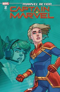 [The cover for Marvel Action: Captain Marvel (2020) #2 (Cover A Boo)]