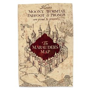 [Harry Potter: Tea Towel: Marauder's Map (Product Image)]